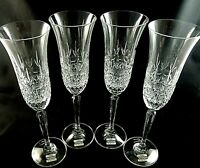 "CHATSWORTH by Mikasa Crystal Fluted CHAMPAGNE GLASSES 9 3/4"" Tall - Set of 4"