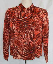 NWT TOMMY BAHAMA Sz S Red Bold Floral Palm Hawaiian Stretch Silk Shirt Top