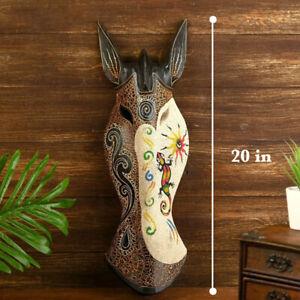 """African Masks Zebra Mask Home Decor Wood Carved African Zebra Safari Decor 20"""""""