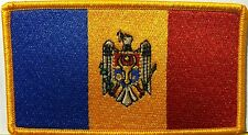 MOLDOVA Flag Military Patch With VELCRO Brand Fastener Gold Emblem #812