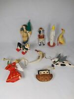Lot Of Christmas Ornaments Cow Angel Duck Dog Holiday Decor