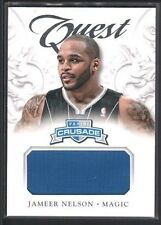 JAMEER NELSON 2012/13 PANINI CRUSADE QUEST #54 GAME JERSEY MAGIC SP $12