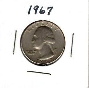 1967 Washington Quarter .25 Cents