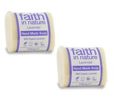 Faith In Nature Lavanda Fatto A Mano Sapone-VEGAN - 2x100g