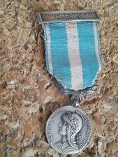 Médaille argent massif Afrique Équatoriale Française Décoration Coloniale