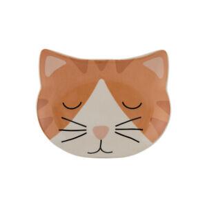 Mason Cash 16x13cm Ginger Cat Bowl Feeding Plate Stoneware Feline Pet Accessory