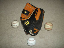"Wilson ESB A0350 ES13 Leather 13"" RHT Custom Fit Flexback Softball Glove 3 Balls"