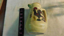Vtg Argilart Pottery Portugal Good Luck Rooster Beer Jug Souvenir Pitcher