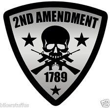 2ND AMENDMENT STICKER 1789 ON SHIELD  BUMPER STICKER LAPTOP STICKER WINDOW