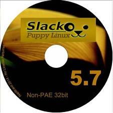 Slacko CUCCIOLO 5.7 a 32 bit CD PC tutti non PAE processori sistema operativo Linux