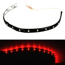 10PCS Led Lamp String Waterproof Flexible Car Decoration Strip Light 30CM Red