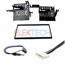 Radio Replacement Dash Mount Installation Kit 2-DIN w/Harness/Antenna for Nissan