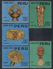 Peru 1966 Gold/Art/Craft/Mask/Goblet/Urn/Treasure/Precious Metal 5v set (n37194)