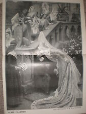 Alain Chartier from Edmund Blair Leighton 1905 large old print