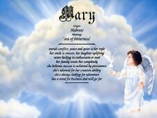 """""""Heavenly Girl"""" Name Meaning Print Personalized (Nursery Decor, Child)"""