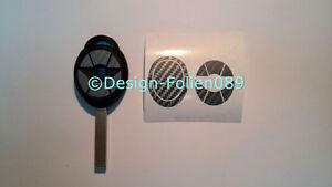 Carbon Anthrazit Folie Dekor Schlüssel Key Cooper JCW S Mini R53 John Works