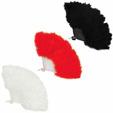 FEATHER HAND FANS BURLESQUE SHOW GIRL 1920'S 30'S FANCY DRESS COSTUME HEN NIGHTS