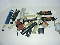 HO SCALE LOT OF PARTS BIG DC MOTORS BOILER AND SMOKE UNITS AND MORE