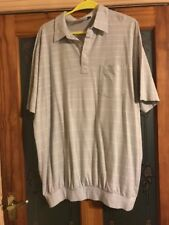 C&A 3XL POLO SHIRT IN GREY SQUARE PATTERN