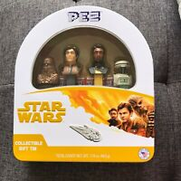Star Wars Pez Collectible Gift Tin Han Solo Chewbacca, NEW And Sealed