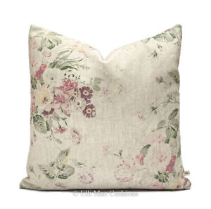 Cabbages and Roses Constance Linen Multi Designer Fabric Cushion Cover