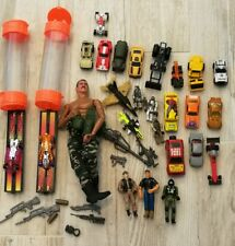 Junk Drawer Lot Top Speed Hot Wheels Match Box GI Joe Diecast Marvel VTG Halo