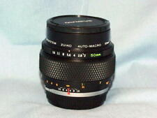 OLYMPUS OM ZUIKO 50mm F2 MACRO LENS LATER MC VERSION PERFECT MINT CONDITION