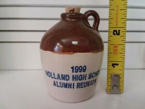 HTF Uhl Pottery Mini Advertising Jug ~HAND TURNED~ Holland High School 1999