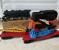 LIONEL 245 W/tender Postwar  1959 Very Rare With Box Plus 2 Cars And Rails