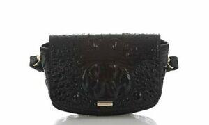 BRAHMIN Lil BLACK MELBOURNE Convertible Belt Bag Crossbody Croc - NWT - $245