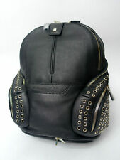 Piquadro Coleos Rucksack Leder schwarz Damen Taschen Nieten Messenger BAG Laptop