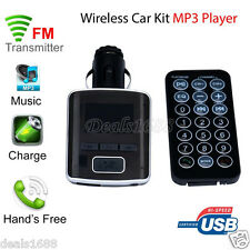 USB Charger LCD Car Kit MP3 Bluetooth Wireless FM Transmitter Hands-Free +Remote