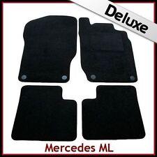 Tailored Carpet Mats LUXURY 1300g for MERCEDES ML W164 Mk2 2005-2011 BLACK