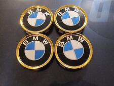BMW 3 series wheel center caps hubcaps emblem badge OEM 1095361 set of 4 GOLD