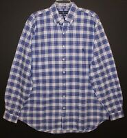 Polo Ralph Lauren Big Tall Mens 3XLT Blue Red Plaid Button-Front Shirt NWT 3XLT