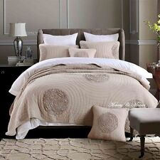 Heather Grey Coverlet by Macey & Moore fits King | Queen Mega