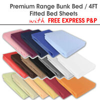 Bunk Bed Fitted Sheet 4FT 100% Cotton Poly Non Iron Easy Care Bed Sheets