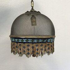 Mackenzie Childs Beaded Fringe Ceiling Light Lamp Pendant 2 available - Vintage