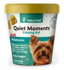 NaturVet Quiet Moments Plus Melatonin Calming Aid for Dogs - 70 Soft Chews