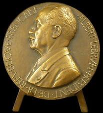 Médaille Président de la République Albert Lebrun 1832 sc H Dropsy 72 mm Medal