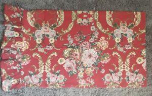 Vintage USA Ralph Lauren Danielle Floral Marseilles Standard Sham Ruffle Hem RED