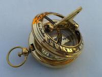 Nautical Hand-Made Brass Working Sundial Compass - By Masco-Nauticals