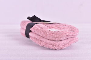 Women's MeMoi Plush Classic Cable Knit Slip On Sock Slippers, Pink,M/L (8-10.5)