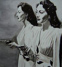 New listing Original art - Mildred Pierce - 2020 film noir, pulp illustration