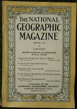 National Geographic magazine March 1923 Old Spanish Road in Mexico,  NO ADS
