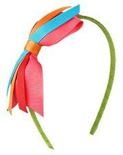 Gymboree MULTI-COLORED RIBBON Bow Hair Headband Rainbow New with Tags