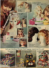 1972 ADVERT 2 Page Toy Play Hair Dresser Barbie Beauty Center Mannequin
