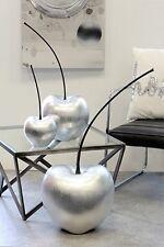 SCULTURA MODERNA CILIEGIO Celebration ceramica argento altezza 60 cm B 25 cm