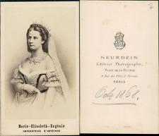 Neurdein, Paris, Impératrice Elisabeth d'Autriche, dite Sissi CDV vintage a