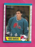 1989-90 OPC # 113 NORDIQUES JOE SAKIC ROOKIE  NRMT-MT CARD (INV# C3130)
